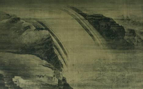 Cascade, attribué à Wang Wei, Chishaku-in, Kyoto, VIIIe siècle