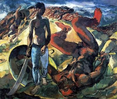 Albert Weisgerber - David et Goliath, 1914