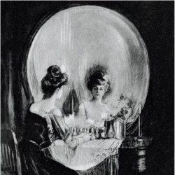 """""""All is vanity"""" - dessin de Charles Allen Gilbert, 1892"""