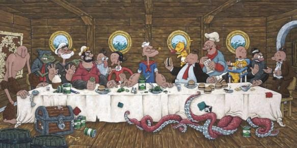 la Cène de Popeye