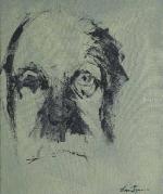 Jorge luis borges, portrait par Manuel Chacón