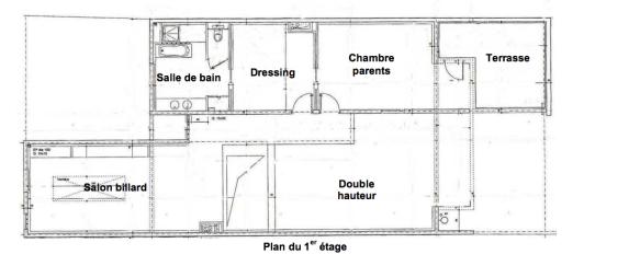 Fontgalland et André - Villa Masson à Issy-les-Moulineaux - plan du niv. 1