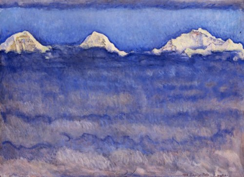 HODLER-  L'Eiger, le Mönch et la Jungfrau au-dessus de la mer de brouillard (détail), 1908,