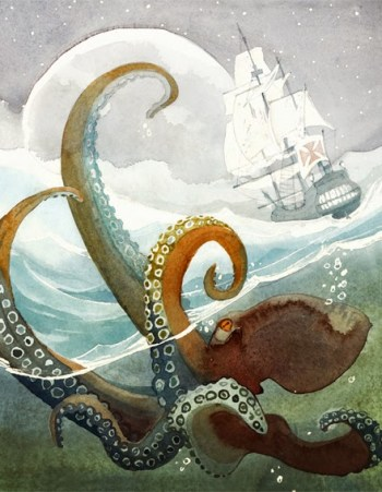 Suzanne Celej - ilustrations du livre El Barco de los Niños de Mario Vargas Llosa, publié par Alfaguara, 2014