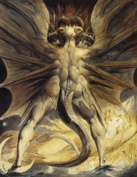 William Blake - The Great Red Dragon and the Woman Clothed in Sun