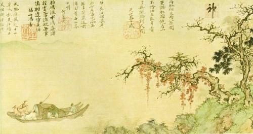 En bateau sur le fleuve à l'automne 1361 par Sheng Mao (1310-1361)