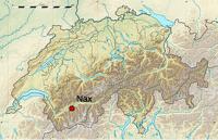 localisation de la commune de Nax en Suisse