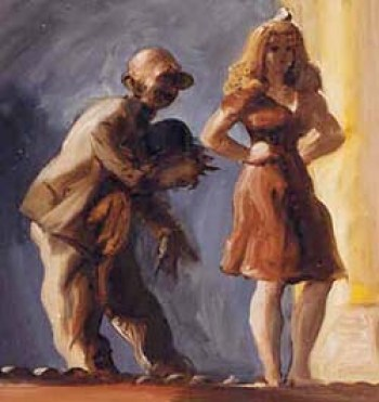 Reginald Marsh - on stage, 1948
