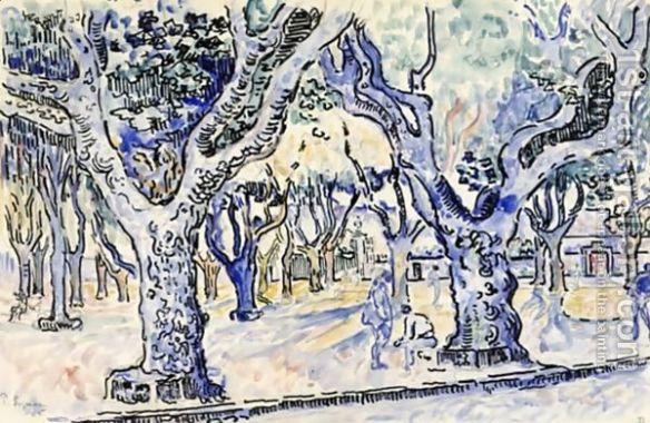 Paul Signac - La-Place-Des-Lices-A-St.-Tropez, 1905