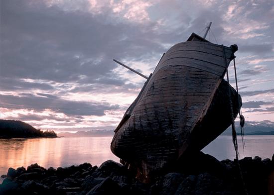 Ansel Adams - Schipwreck of the Ark at Salt Chuck near Juneau, Alaska, 1948.png