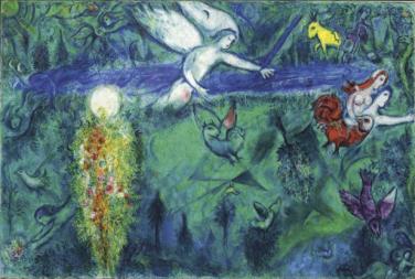 Marc Chagall - Adam et Ève chassés du paradios, 1961