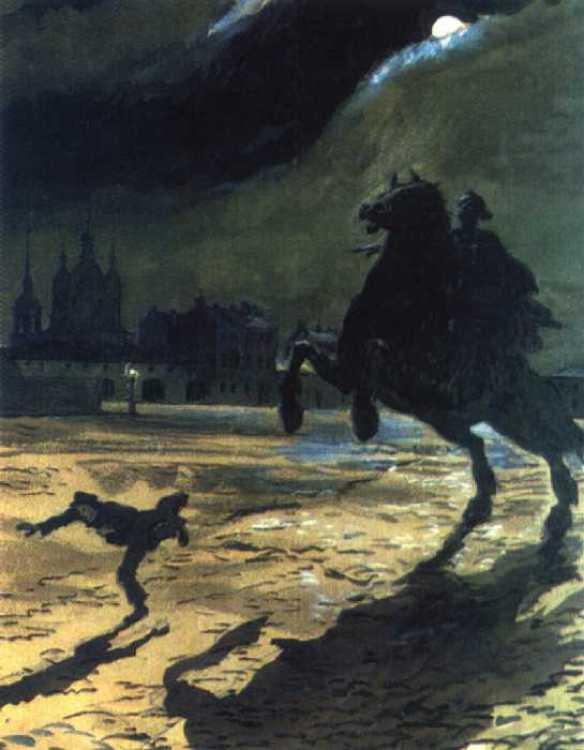 Alexandre Benois - le cavalier de bronze , 1899-1905