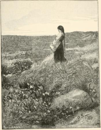 Erik Werenskiold - conte The Twelve Wild Ducks  She was on the moor gathering cotton-grass.png