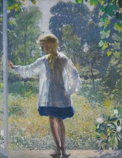 Tanis, 1915, by Daniel Garber - July27_garber