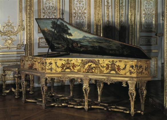 clavecin décoré par Claude Audran II, mécanisme de Ruckers