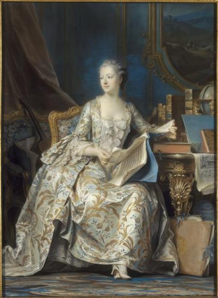 Maurice Quentin de La Tour - Portrait en pied de la marquise de Pompadour
