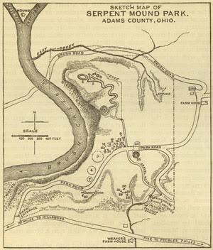 Map-Serpent mound-Ohio-Park