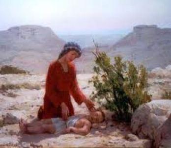 Hagar & Ismael in desert6