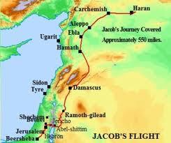 Jacob's journey map