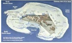 Ice and Landmass of Antarctica