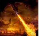 Earthlings saw rockets and jets as fire- breathing dragons.