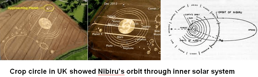 Nibiru Orbit Cropcircle composit of 3 pix