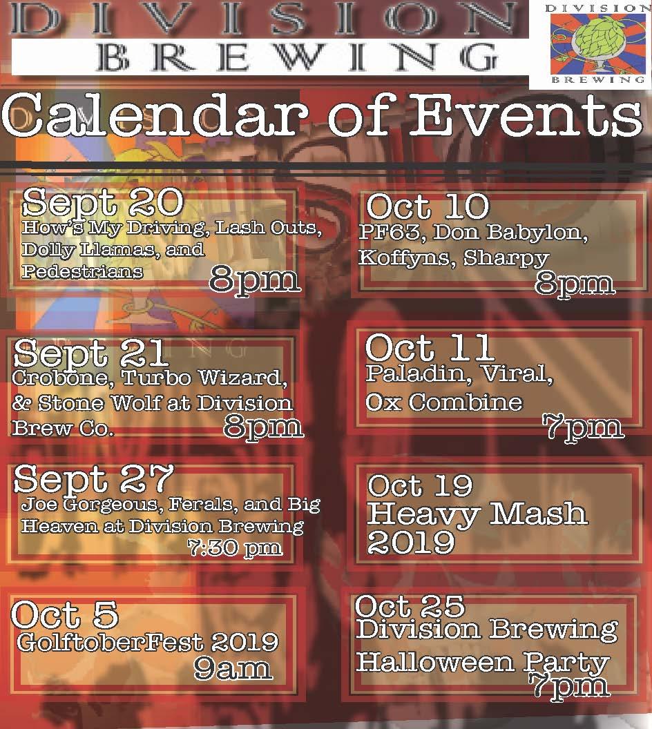 DIVISION CLANEDAR Sept-Oct