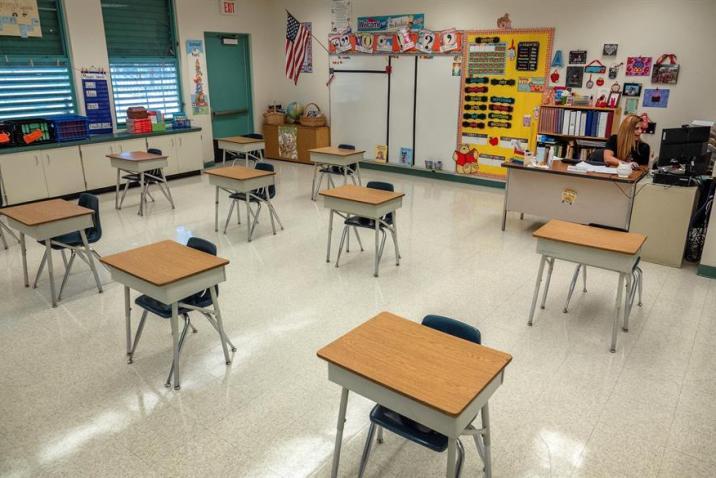 Distancia en las aulas