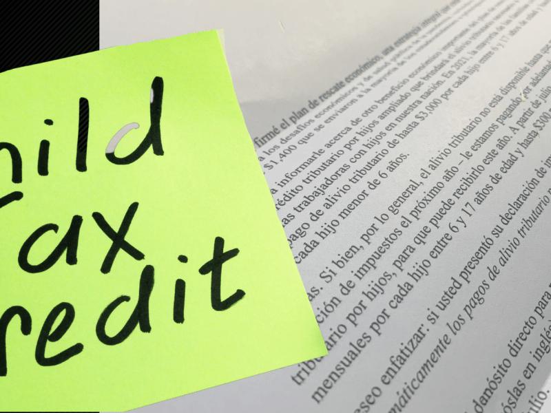IRS envía pago mensual de crédito tributario por hijos