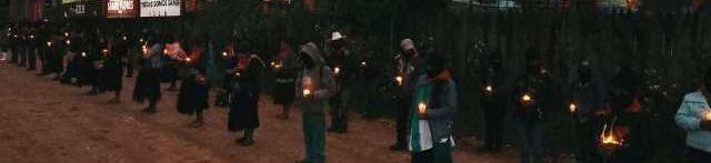 Imágenes de la movilización zapatista en la Jornada por la vida, contra los megaproyectos y por nuestro hermano Samir Flores