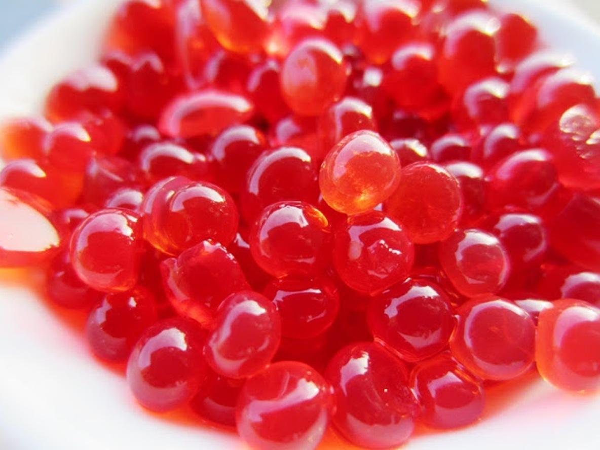 Falso Caviar de Fresa  En La Vida Sana