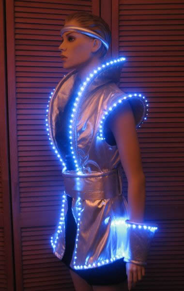 Lighted Space Dress Enlighted Illuminated Clothing