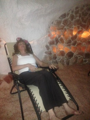 Stress free relaxation in the salt cave.