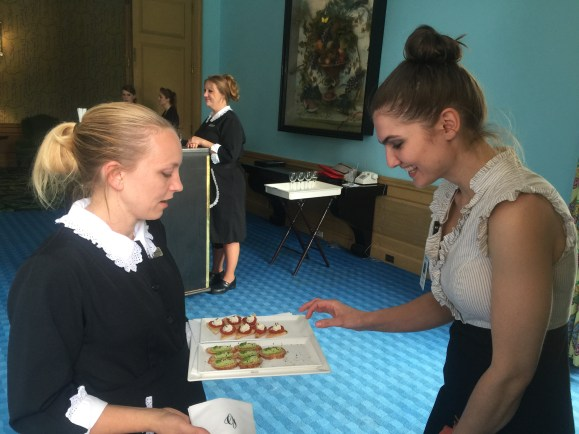 Healthy choices were passed so that guests could get to know participates and staff, including the physicians.