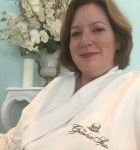 Enjoying some quiet time in the relaxation room before my spa treatment