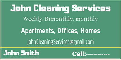 Top 10 Cleaning Services Business Cards Ideas That Stand Out