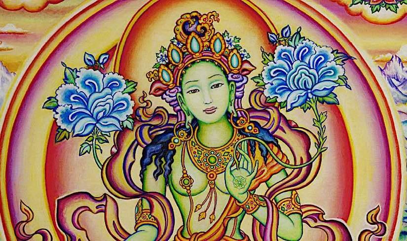 """Chittamani Tara (Cittamani)- the """"Mind Jewel"""" Green Tara"""