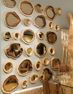 The Phillips Collection Chamcha Wood Décor mirrors