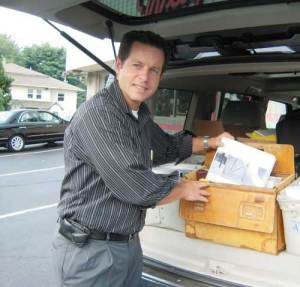 Chas Lassoff demonstrates, a rep's vehicle is his rolling office