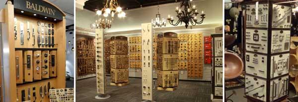 Decorative Hardware In Ratail Lighting Showrooms