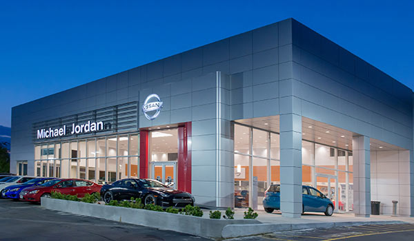 Michael Jordan Nissan: Nissan's First LED Showroom