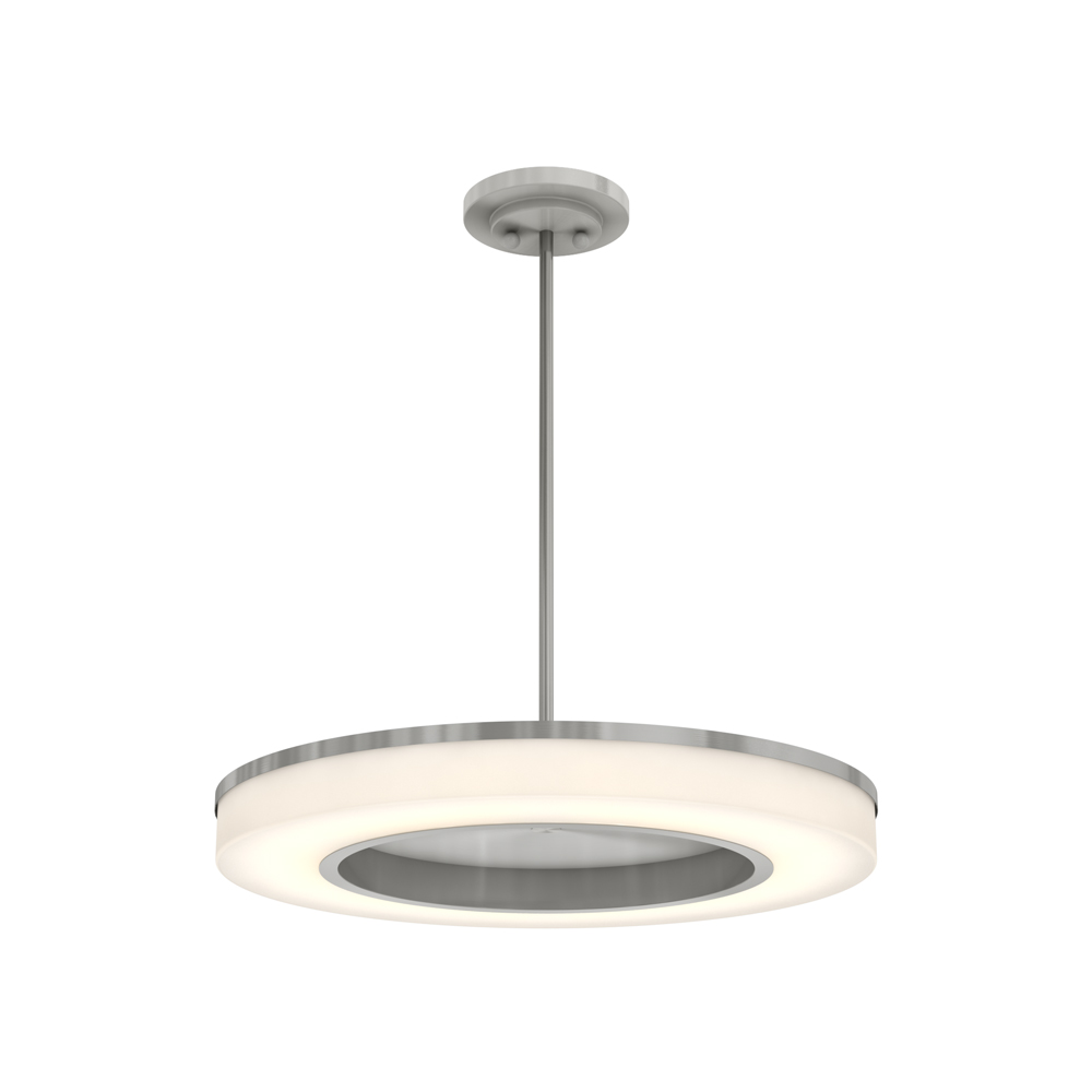 DALS Lighting, Inc. Smooth Contour and  Haloed Out Center LED Pendant Light: PDLED170-22