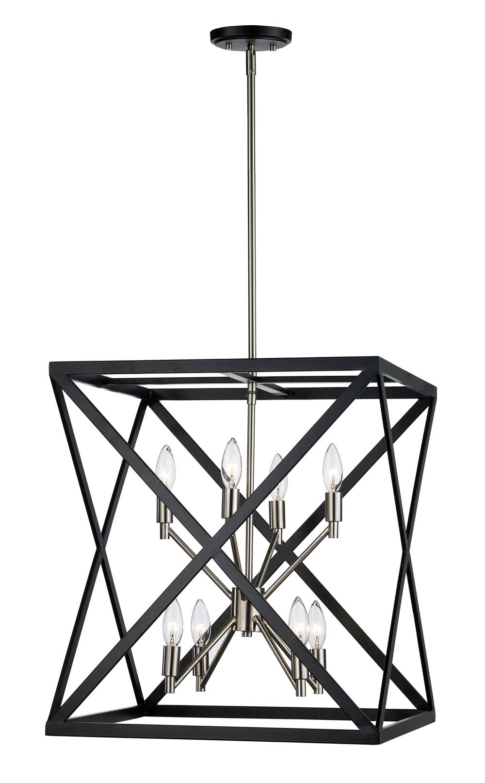 Trans Globe Lighting Awry Steel Collection-71058 BK + BN