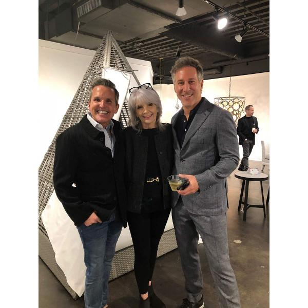 From left: Interior designer Dann Foley, ART President Sharon Davis and interior designer Daniel Penciner during the ARTS Awards Preview Party.