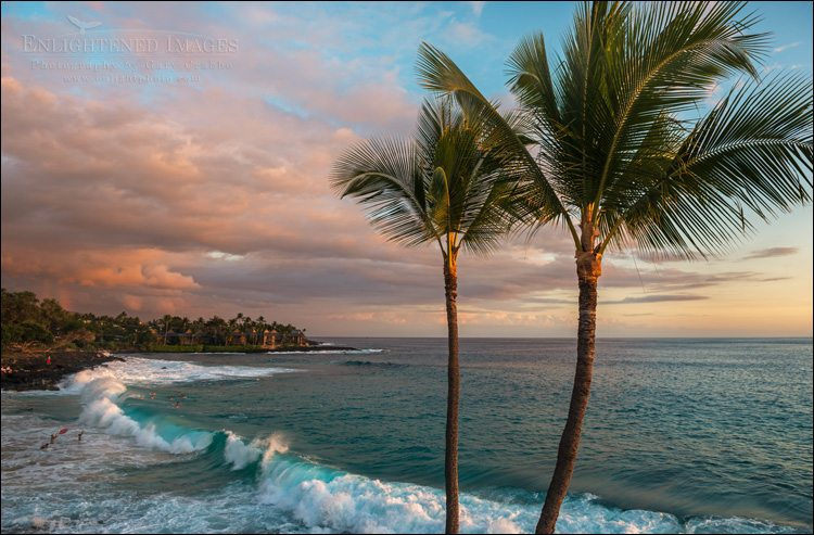 Photo: Sunset as seen from the Kona Magic Sands near White Sands Beach Park, Kailua-Kona, Big Island, Hawaii