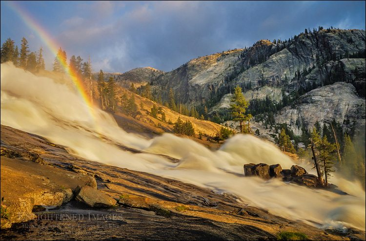 Photo: Rainbow in LeConte Fall, along the Tuolumne River, Yosemite National Park, California