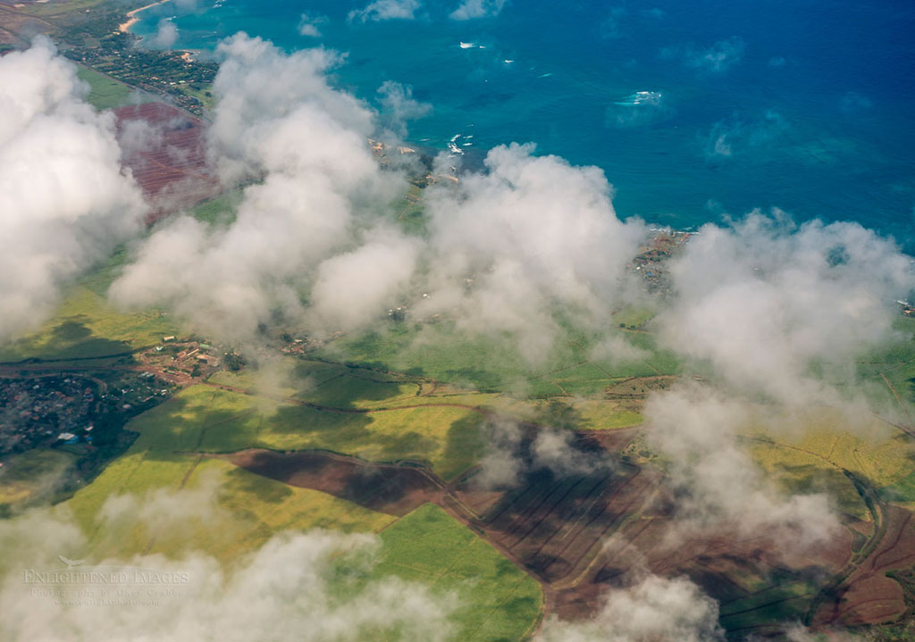 Photo: Aerial over the north shore of Maui, Hawaii