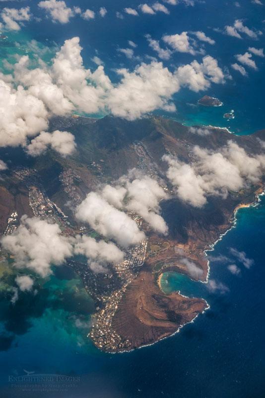 Photo: Aerial over Hanauma Bay, Oahui, Hawaii