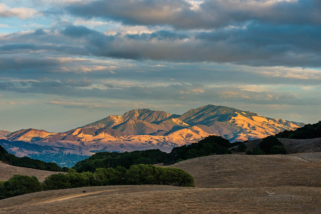 Photo: Sunset light on Mount Diablo from Briones Regional Park, Contra Costa County, California