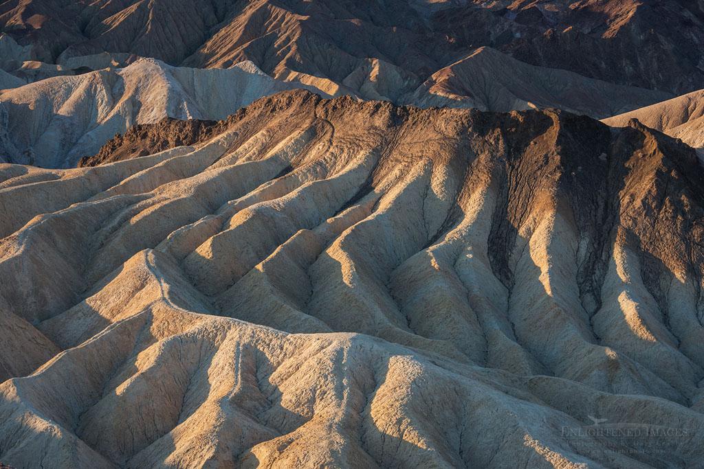 Photo: Eroded hills at Zabriskie Point, Death Valley National Park, California